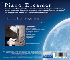 Chris Conway Piano Dreamer back